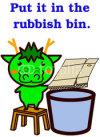 Animal Series to throw away trash ゴミを捨てる動物シリーズ1