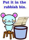 Animal Series to throw away trash ゴミを捨てる動物シリーズ2