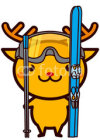 Skiing, snowboarding Animal Series スキー、スノーボードの動物シリーズ2