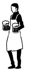 Waiter, waitress silhouette ウェイター,ウェイトレスのシルエット2