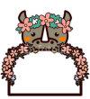 animal wedding board,動物のウェディングボード3